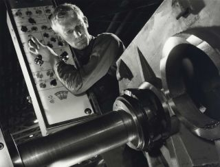 Lathe Operator At Marweight [Engineering], Burnley, Melbourne. Wolfgang Sievers, German/Aust