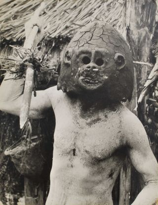 Asaro Mudman, New Guinea, Eastern Highlands [Goroka Show]. Robin Smith, b.1927 NZ/Aust