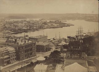 Circular Quay From Garden Palace [Detail From Panorama of Sydney]. Charles Bayliss, Aust