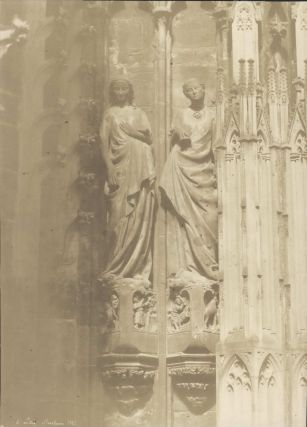 Two Female Sculptures, Notre Dame Cathedral, Strasbourg, France]. Henri Le Secq, French