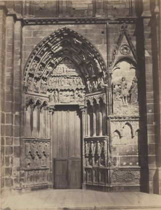Cathedral Door, France]. Édouard Baldus, French
