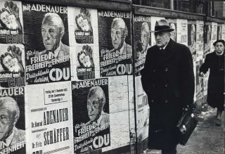 Election Posters Of Christian Democrats In Germany. Henri Cartier-Bresson, French