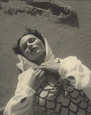 Beachwear Fashion Shot III]. Olive Cotton, Australian