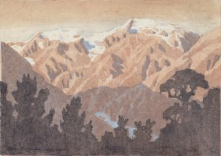 Franz Josef Glacier And Mountains [New Zealand]. John Lysaught Moore, NZ