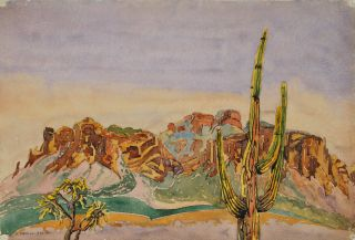Arizona Desert. H. Nevill-Smith, active 1930s-1950s Australian