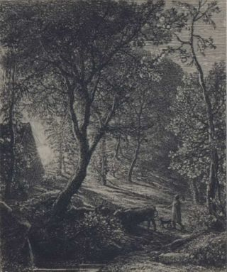 The Herdsman's Cottage. Samuel Palmer, Brit