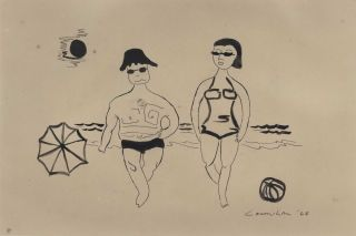 Beach Couple]. Noel Counihan, Aust