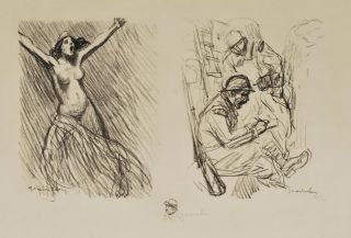 Feuille De Croquis No. 2 (Sketch Sheet #2). Théophile Alexandre Steinlen, French