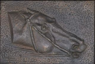 Bronze Head Of A Racehorse. John Wrenn Sutton, Aust