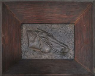 Bronze Head Of A Racehorse