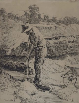 The Prospector [Gold-mining]. Alfred Edward Warner, Ernest, Aust
