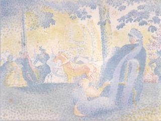 Aux Champs Elysées [Paris, France]. Henri Edmond Cross, French