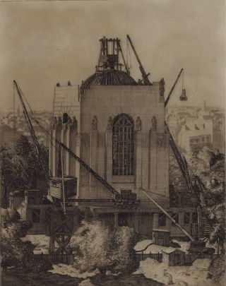 Building The Anzac Memorial [Hyde Park, Sydney]. Cedric Emanuel, Aust
