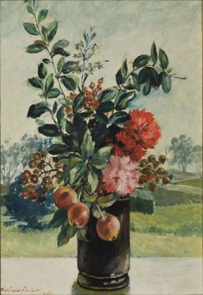 [Bouquet With Crab Apples In A Vase]