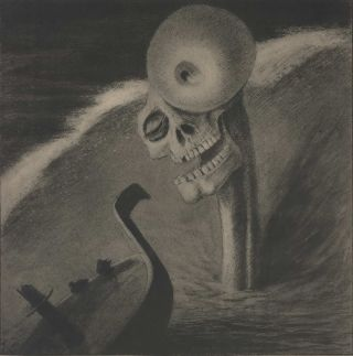 Das Grausen (That's Horrible). After Alfred Kubin, Austrian.