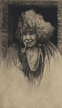Portrait Of A Maori Woman Smoking A Pipe]. Trevor Lloyd, New Zealand