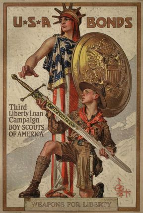 USA Bonds. Third Liberty Loan Campaign. J C. Leyendecker, American