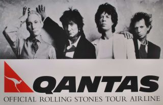 Qantas. Official Rolling Stones Tour Airline