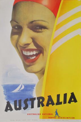 Australia [Female Swimmer With Surfboard