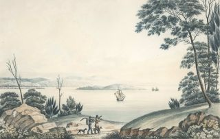 View On The River Tamar, And Part Of The Asbeston Hills, Van Diemen's Land [Tasmania]. Joseph...