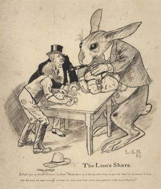 The Lion's Share [Rabbit Plague]. Lionel Lindsay, Aust