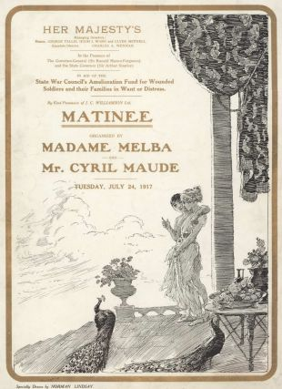 """Matinee"" Organised By Madame Melba And Mr Cyril Maude. Norman Lindsay, Aust"
