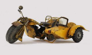 Harley-Davidson Ephemera and Homemade Model Motorbike With Sidecar