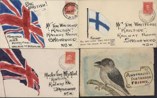 Collection Of Australian Illustrations On Envelopes