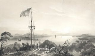 Entrée De La Baie Des Iles (The Entrance Of The Bay Of Islands) [Flagstaff Hill] and...