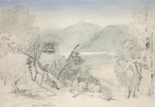 Wiseman's Ferry, Hawkesbury River [NSW]. After Conrad Martens, Brit./Aust