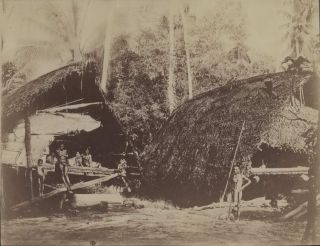 Papua New Guineans In Front Of Dwellings]. Richard Parkinson, Danish