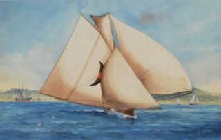 An 18-foot Skiff On Sydney Harbour]. George Frederick Gregory Jnr, Aust