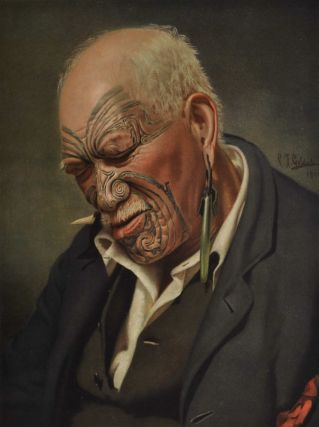 A Warm Day [Maori Man]. After C. F. Goldie, NZ