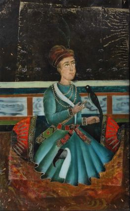 Persian Man Seated With Songbird
