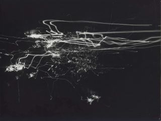 Moving Cars At Night With Moving Camera. David Moore, 1927–2003 Aust