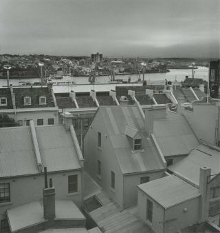 Roofscape, The Rocks, Sydney. Terry Naughton, 1941–2016 Australian