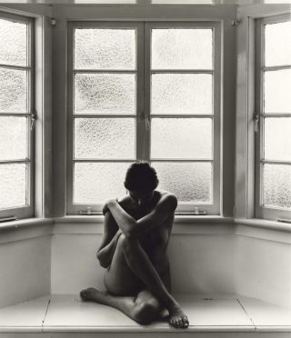 Female Nude In Bay Window]. Charles Page, b.1946 Aust