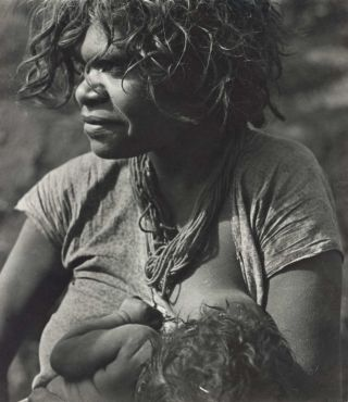 Aboriginal Girl With Her First Born Baby. Axel Poignant, 1906–1986 Aust
