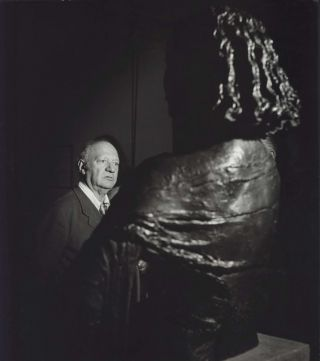 Sir Jacob Epstein With Bust Of His Wife. David Potts, 1926–2012 Aust