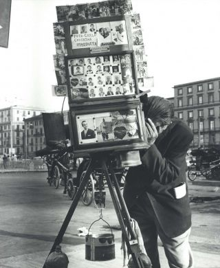 Street Photographer In Naples. Heide Smith, b.1937 German/Aust