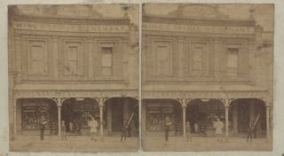 Melbourne Street Views. Melbourne Stereoscopic Co, active 1860–1900 Aust