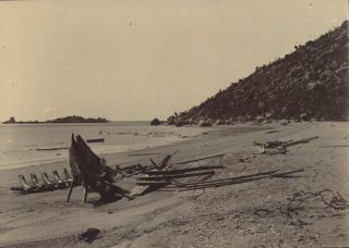 "[Pearl Luggers ""Olive"" And ""Zanoni"", Cape Melville, Queensland]"