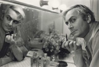 Barry Humphries In His Dressing Room Prior To His Performance At The Tivoli Theatre. Mervyn...
