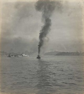 Steam Rising, Sydney Harbour]. Harold Cazneaux, 1878–1953 Aust