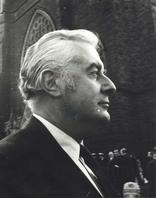 Gough Whitlam At The Funeral Of Arthur Calwell. Rennie Ellis, 1940–2003 Aust