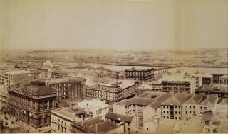 Panorama Of Sydney Looking West From Tower Of General Post Office. Government Printer, est. 1842...