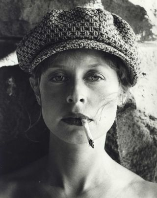 "Actor Judy Morris Smoking On The Set Of ""In Search Of Anna""]. Carol Jerrems, 1949–1980..."