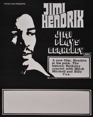 "Jimi Hendrix ""Jimi Plays Berkeley"" [Band"