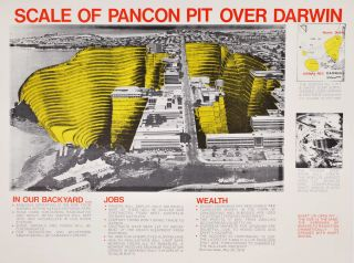 Scale Of Pancon Pit Over Darwin [Anti-Uranium Mining