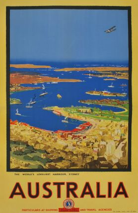 The World's Loveliest Harbour, Sydney, Australia. Albert Collins, 1883–1951 Aust